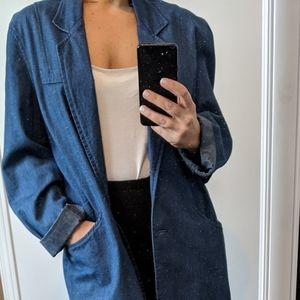 Vintage oversize denim  blazer